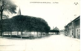N°1290 A -cpa St Germain Des Bois -la Place- - Autres Communes