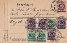 DR Karte Mif Minr.288,4x 289,3x 290,291 Frankfurt 9.10.23 - Deutschland