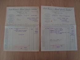 LOT DE 2 FACTURES MATERIEL AGRICOLE ET INDUSTRIEL VIERZON 1926 - France