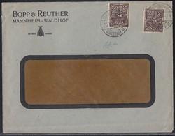 DR Brief Mef Minr.2x 231 Mannheim Perfins BR Bopp & Reuther - Deutschland