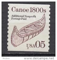 USA, Bateau, Boat, Canot, Canoe, écorce, Barks, Aviron, Rowing, Indiens D'amérique, Amérindien, Amerindian, Coil - Bateaux