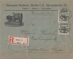 DR R-Brief Mif Minr.4x 326A,2x 329A Berlin 22.11.23 Geprüft - Deutschland