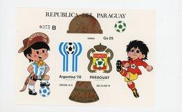 Paraguay 1979-Coupe Du Monde De Football D'Argentine à L'Espagne-MI B347-B*** - Fußball-Weltmeisterschaft