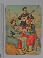 CHROMO GRAND FORMAT: Militaire Joueur De Cartes SPAHIS - Musicien Pipe Cigarette Tambour Vin - H. & L. SCHWEICH - Other