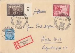 DR R-Brief Mif Minr.521,707 OR, 708 SST Wiesbaden 31.8.40 - Deutschland