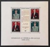 Gabon 1971 In Memory Of Gen. Charles De Gaulle - Gabon