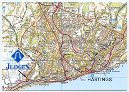 MAP / ADVERTISING : JUDGES POSTCARDS - HASTINGS / ST LEONARDS ON SEA - Maps