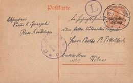 Dt. Besetzung Ober-Ost Minr.P3 Russ. Krottingen 22.7.18 Zensur Gel. Nach Wilna - Besetzungen 1914-18