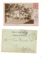 M6030 COLONIE LIBIA TRIPOLI Villino 1902 Fotocartolina Viaggiata Annullo Tondoriquadrato - Libya