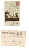 M6031 COLONIE LIBIA TRIPOLI Arco Marco Aurelio 1902 Fotocartolina Viaggiata Annullo Tondoriquadrato - Libya