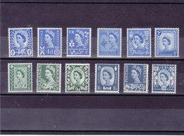 GB 1966 REGIONAUX Yvert 423-434 NEUF** MNH - 1952-.... (Elizabeth II)