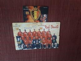 Set 5 Private Phonecards Football Belgium 31.05.2000 (Mint,Neuve) Rare - Belgien