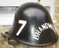 Casque De Pompiers Hollande WW2 - Headpieces, Headdresses