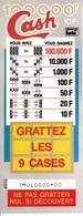 LOT DE 10 FLAYERS CASH 2 VOLETS FDJ FRANCAISE DES JEUX NEUFS 10cmX25,5cmX2 - NOTRE SITE Serbon63 - Publicités