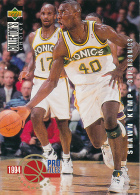 Basket, NBA, Upper Deck 1994, Collector's Choice, PRO Files, N° 203 : SHAWN KEMP (Seattle Supersonics) Trading Cards - Singles (Simples)