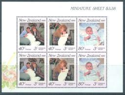 NEW ZEALAND - MNH/** - 1989 - HEALTH - Yv Bloc 67 Mi 1061-1063 SG MS1519 Sc B136a  - Lot 17143 - Blocs-feuillets