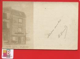 RARE CARTE PHOTO Précurseur MONTDIDIER Vieille Maison Photo L Du Baille Moyen Age Voyagée 1901 Montdidier Beauvais - Montdidier
