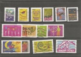 Année 2008  Bonnes Fêtes  (série Complète ) N°239 à 252 Oblitéré - Used Stamps