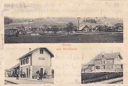 Gruss Aus Riedbach - Bahnhof - 1903          (P-144-70319) - BE Berne