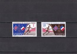 Nueva Hebrides Nº 282 Al 283 - Leyenda Francesa