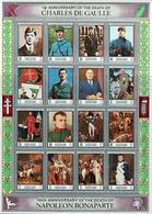 Bloc-feuillet Manama 1972 Neuf ** -  Anniversaires Mort De Napoléon & Charles De Gaulle (16 Timbres En Version Dentelée) - Bahreïn (1965-...)
