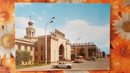 KAZAKHSTAN. ALMATY. Airport. 1987 Old  Postcard - Kazakhstan