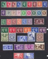 1936-1954 Re George VI 14 Serie Cpl Tra I N°461 E 512  Gibbons Titti MNH ** - 1902-1951 (Re)