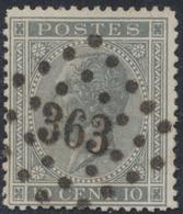 "émission 1865 - N°17 Obl Concours Pt363 ""Tournay"" - 1865-1866 Linksprofil"