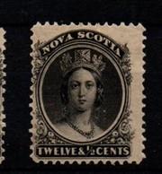 Nova Scotia 12 1/2 Cents Black On Yellowish Paper Mint - Nuovi