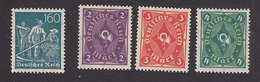 Germany, Scott #149-152, Mint Hinged, Farmers, Post Horn, Issued 1921 - Allemagne