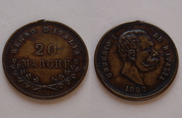 GETTONE 20 MARCHE 1892 UMBERTO I° RE D'ITALIA - Royal/Of Nobility