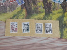 Timbres Neuf 1974 > Série N°1824 à 1827 - Y&T - A Schweitzer, Ed Michelet, R Chuman, E Thomas - Coté 3 € - France