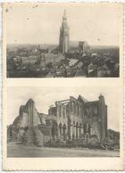 8Eb-668: Hoogstraten - De Kerk Na De Verwoesting Van 23 Oktober 1944.... Iets Torenzicht... De Postzegel Is Beschadigd.. - Hoogstraten