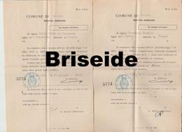 DOCUMENTI COMUNE DI LEVICO TRENTO  SERVIZIO ELETTORALE LEONESSA FIUME RIJEKA REKA  1909 - Documenti Storici