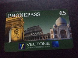 Vectone - Arc De Triumph, Moschee   - 5 Euro -   Little Printed  -   Used Condition - Deutschland
