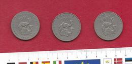 Lot De 3 Pièces De DJIBOUTI - 100 Francs - 1970 Et 2 X 1977 (dromadaire) - Djibouti