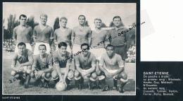 FOOTBALL : PHOTO, A.S. SAINT-ETIENNE, L'EQUIPE, HERBIN, MEKLOUFI, TYLINSKI, BERNARD, GUY, HEUTTE... COUPURE REVUE (1964) - Autres