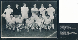 FOOTBALL : PHOTO, ANDERLECHT, L'EQUIPE, VAN HIMST, HEYLENS, TRAPPENIERS, DEVRIENDT, JURION... COUPURE REVUE (1964) - Autres