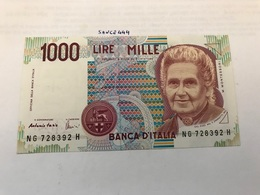 Italy Montessori Uncirculated Banknote 1000 Lira #1 - [ 2] 1946-… : Républic