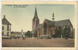 8Eb-666:  TURNHOUT Markt Met Stadhuis En St.Pieterskerk+ Auto's... 1950 - Turnhout