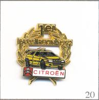 Pin's Automobile - Citroën 1er Au Rallye Paris - Pékin 1992. Est. Arthus Bertrand Paris. Double Moule. T602-20 - Rallye