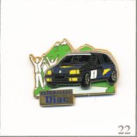Pin's Automobile - Renault Clio Rallye - Sponsor Diac. Est. Arthus Bertrand Paris. Double Moule. T602-22 - Rallye