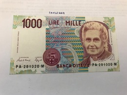Italy Montessori Uncirculated Banknote 1000 Lira #2 - [ 2] 1946-… : Républic