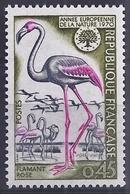 FRANCIA 1970 - AÑO DE LA NATURA - FLAMENCO - FLAMANT - YVERT Nº 1634** - Flamingo