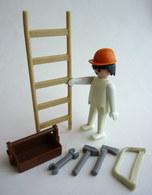 RARE PLAYMOBIL KLICKY 3311 OUVRIER ET ECHELLE En Loose 1975-76 - Playmobil
