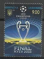 Ukraine 2018 Mi (1639) MNH ( ZE4 UKR(1639) ) - Football