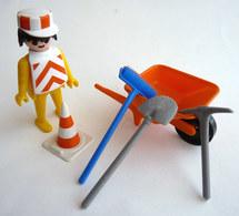 RARE PLAYMOBIL KLICKY 3313 OUVRIER ET BROUETTE En Loose 1975-76 - Playmobil