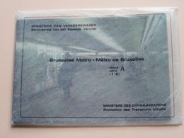 BRUSSEL METRO BRUXELLES Reeks A ( 1 - 9 ) Anno 19?? ( Zie Foto Voor Details ) ! - Subway