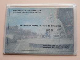 BRUSSEL METRO BRUXELLES Reeks B ( 10 - 18 ) Anno 19?? ( Zie Foto Voor Details ) ! - Subway