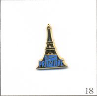"""Pin's Médias - Télévision / Chaîne """"Paris Première"""" Avec Tour Eiffel - Version Bleu Ciel. Est. AB. Paris. T603-18 - Medias"""